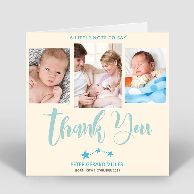 Big Thanks - Boy, baby thank you card for boys by Cedar Tree