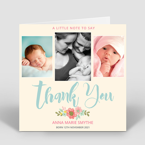 Big Thanks- Girl, baby thank you card for girls by Cedar Tree
