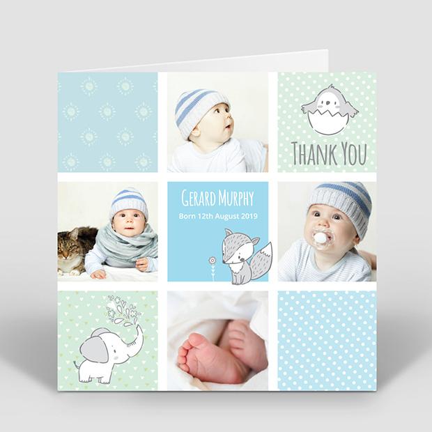 Comic Book - Boy, baby thank you card for boys by Cedar Tree