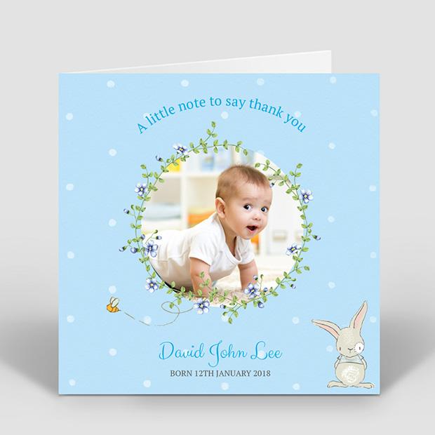 Spring has Sprung - Boy, baby thank you card for boys by Cedar Tree