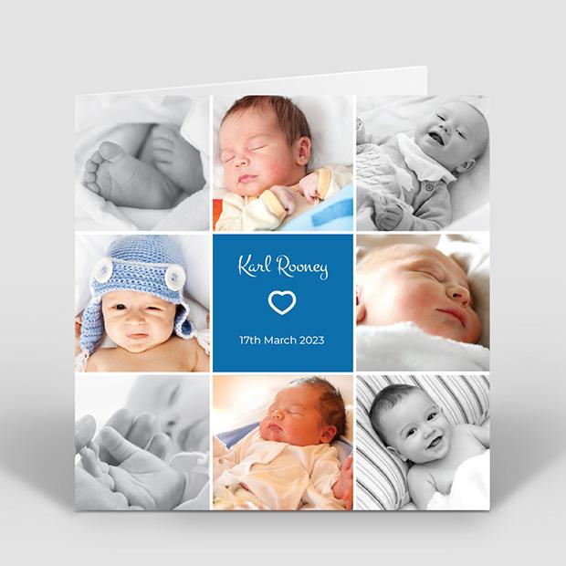 Royal Flush - Boy, baby thank you card for boys by Cedar Tree