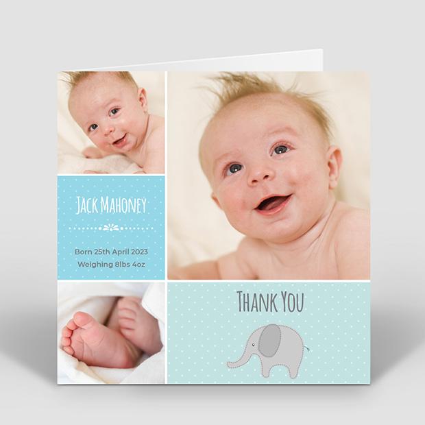 Dotty – Boy, baby thank you card for boys by Cedar Tree