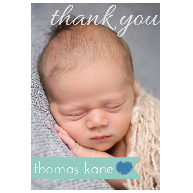 Simple Things – Boy, baby thank you card for boys..