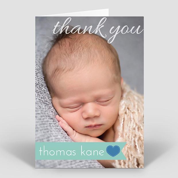 Simple Things - Boy, baby thank you card for boys by Cedar Tree