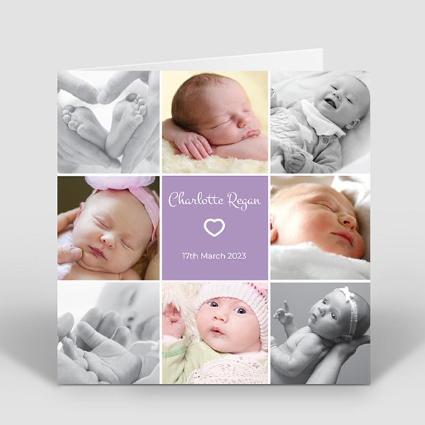 Royal Flush - Girl, baby thank you card for girls by Cedar Tree