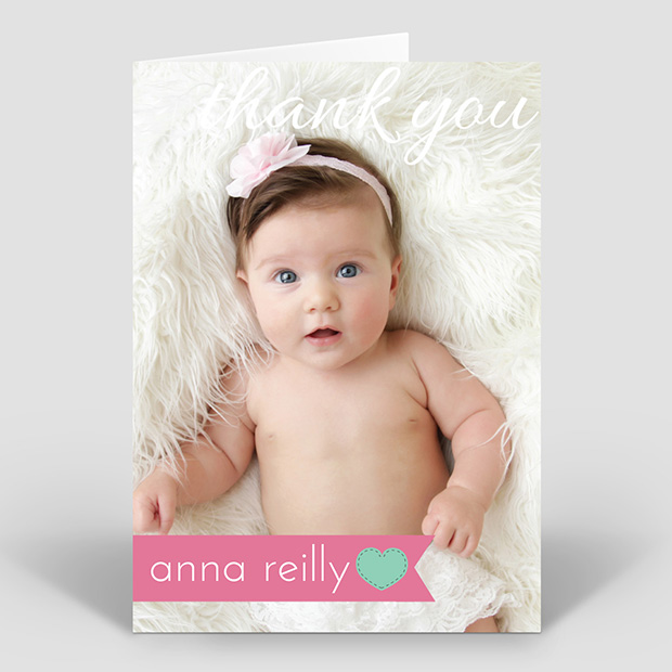 Simple Things - Girl, baby thank you card for girls by Cedar Tree