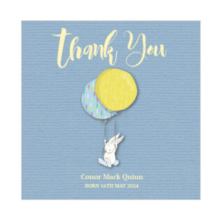 New Arrival - Boy, baby thank you card for boys