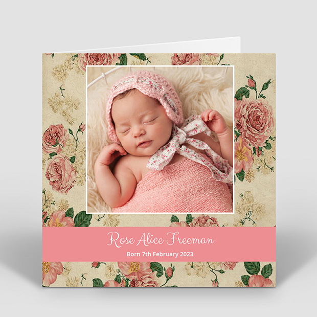 Summer Days, baby thank you card for girls by Cedar Tree