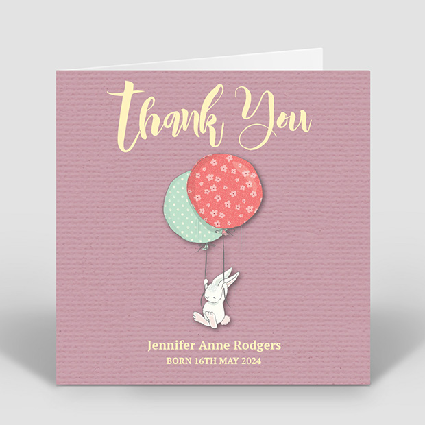 New Arrival – Girl, baby thank you card for girls by Cedar Tree