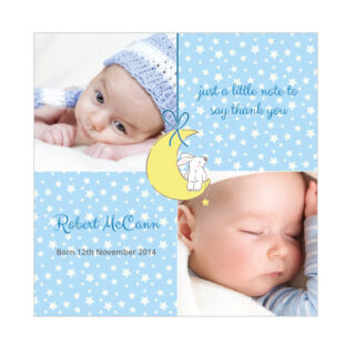 Star Player - Boy, baby thank you cards for boys.