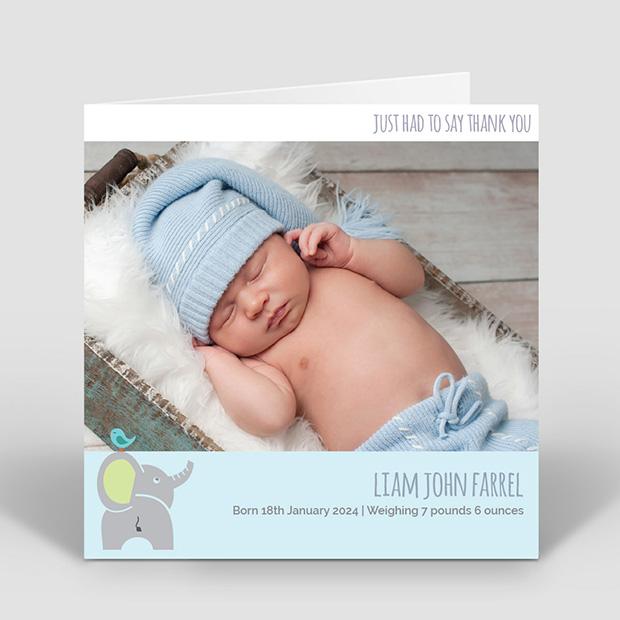 Best Friends - Boy, baby thank you card for boys by Cedar Tree