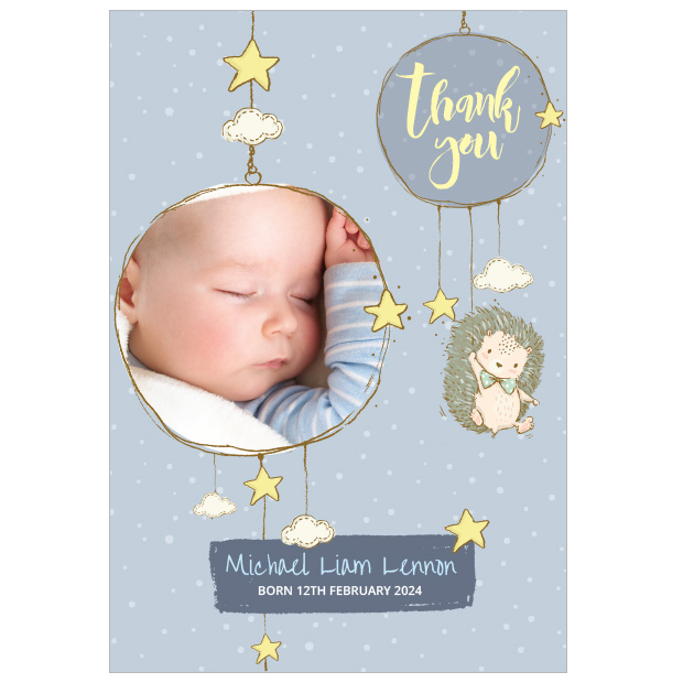 Night Night, baby thank you cards for boys
