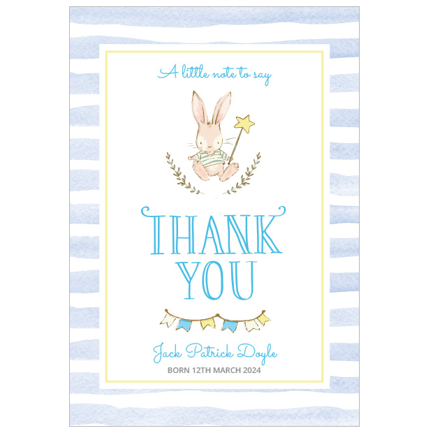 Hop, Skip and Jump - Boy, baby thank you cards for boys