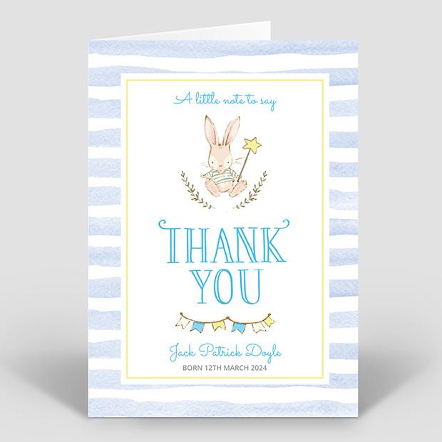 Hop, Skip and Jump - Boy, baby thank you card for boys by Cedar Tree