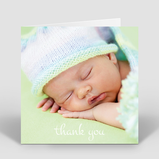 Photo Frame - Girl, baby thank you card for girls by Cedar Tree