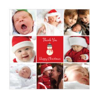 Merry Christmas - Christmas themed Baby Thank You Card by Cedar Tree Ireland