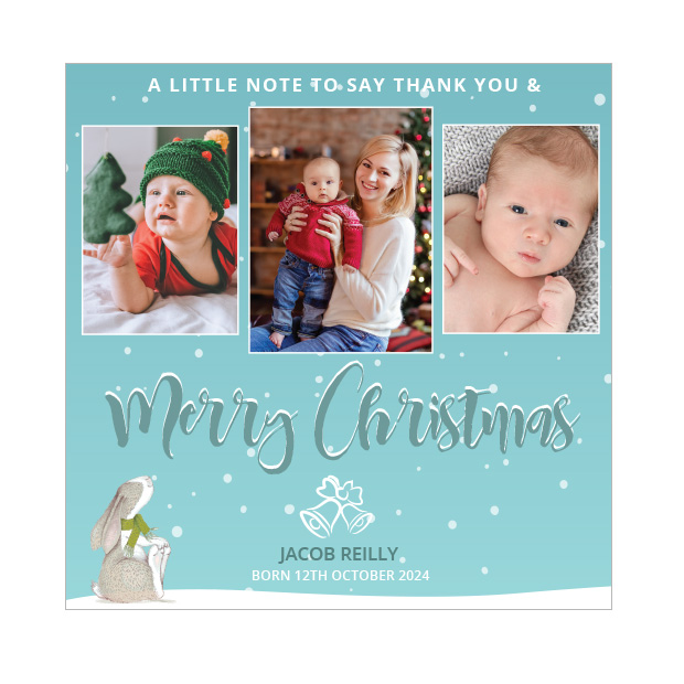 Big Merry Christmas - Christmas themed Baby Thank You Card by Cedar Tree Ireland