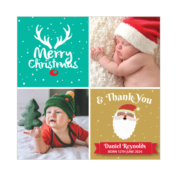 First Christmas - Christmas themed Baby Thank You Card by Cedar Tree Ireland