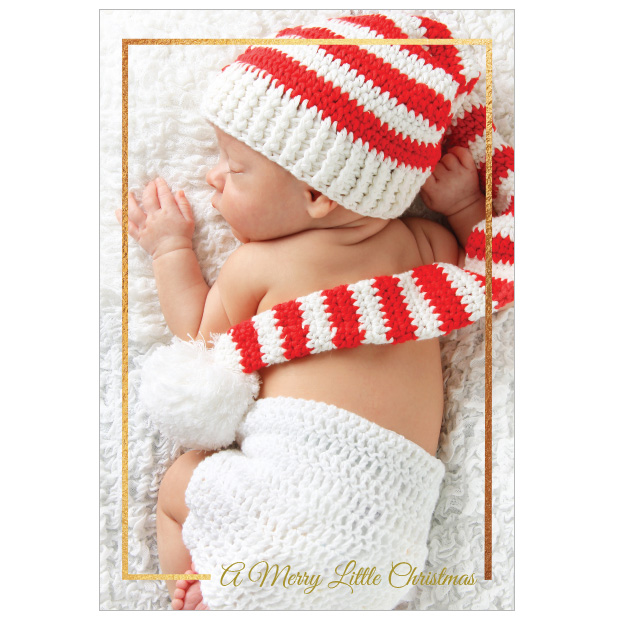 Little Christmas - Christmas themed Baby Thank You Card by Cedar Tree Ireland