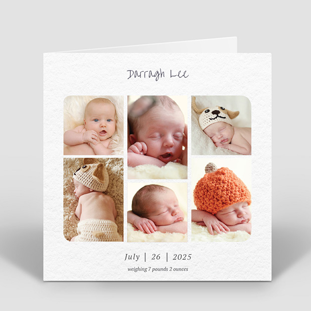 Story Time - Boy, baby thank you card for boys by Cedar Tree