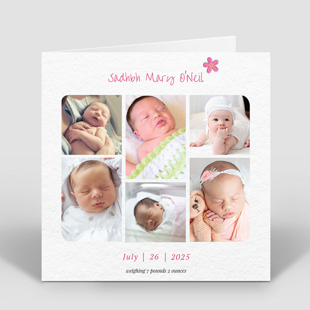 Story Time - Girl, baby thank you card for girls by Cedar Tree