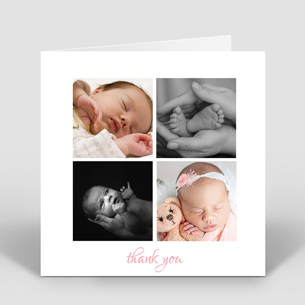 Photocall Multi - Girl, baby thank you card for girls by Cedar Tree